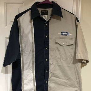 Wrangler Western Aztec Large Pearl Snap S/S Shirt